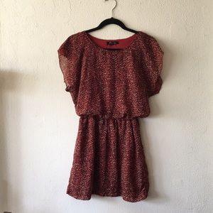 Dark orange spotted dress